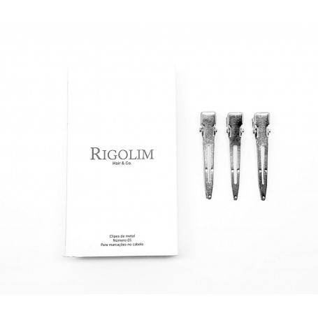 Clipe de metal número 05 caixa com 12un Rigolim Hair & Co